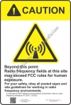 12x18 RF CAUTION Sign