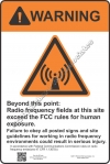 12x18 RF WARNING Sign