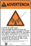 12x18 RF WARNING SPANISH Sign