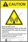 8x12 RF CAUTION Sign