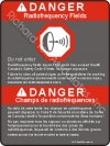 18x24 CANADIAN RF DANGER Sign