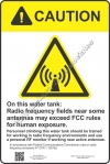 12x18 RF WATER TANK CAUTION Sign