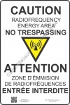 12x18 NEW CANADIAN RF CAUTION Sign
