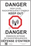 12x18 NEW CANADIAN RF DANGER Sign