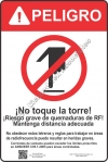 12x18 RF DANGER BURN SPANISH Sign
