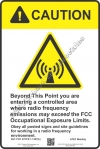 8x12 AT&T RF CAUTION Sign