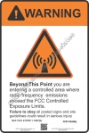 8x12 AT&T RF WARNING Sign