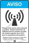 8x12 AT&T RF NOTICE SPANISH Sign