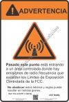 8x12 AT&T RF WARNING SPANISH Sign