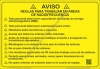 8x12 METAL RF SITE GUIDELINE Placard SPANISH