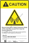 8x12 VERIZON RF CAUTION Sign