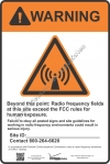 8x12 VERIZON RF WARNING Sign