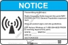 8x12 NEW VERIZON RF NOTICE Sign