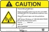 8x12 NEW VERIZON RF CAUTION Sign