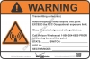 8x12 NEW VERIZON RF WARNING Sign